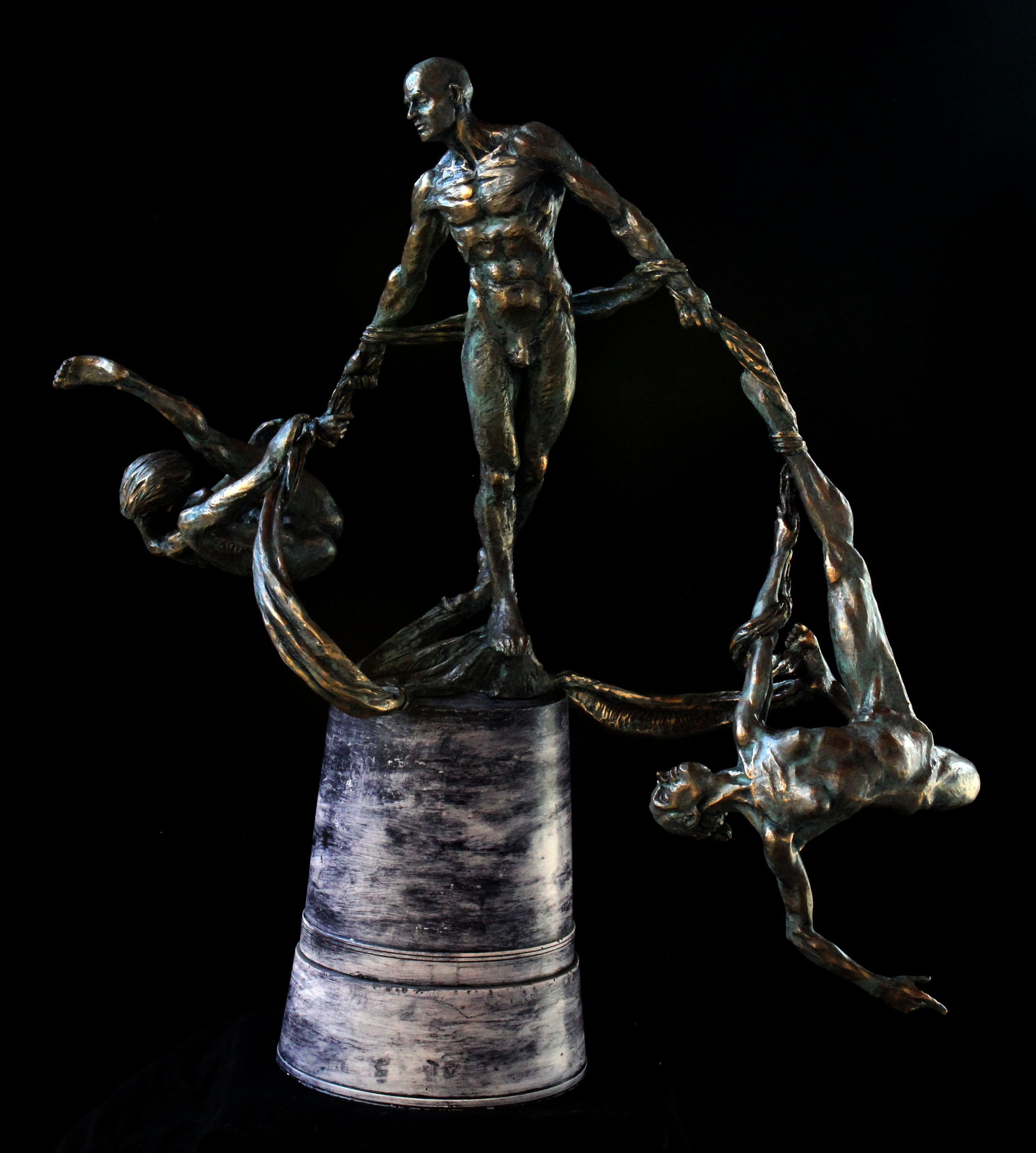 twistTrio , Bronze (cold cast bronze shown), 2017    -Douglas Turner  , CMATO's Contributing Artist