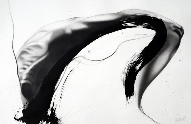 Arc , Graphite and Sumi Ink on Paper, 2016  - Michele Benzamin-Miki  , CMATO's Featured Artist