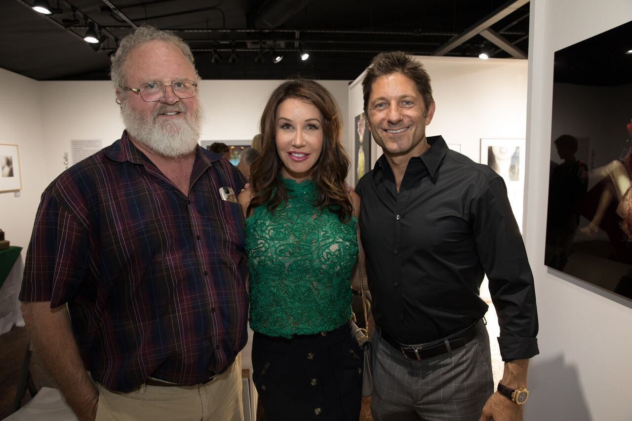 Larry Janss, Jennifer and Tony Principe at Femmes Photo Fest Opening Reception at CMATO's  Exposed e xhibition.