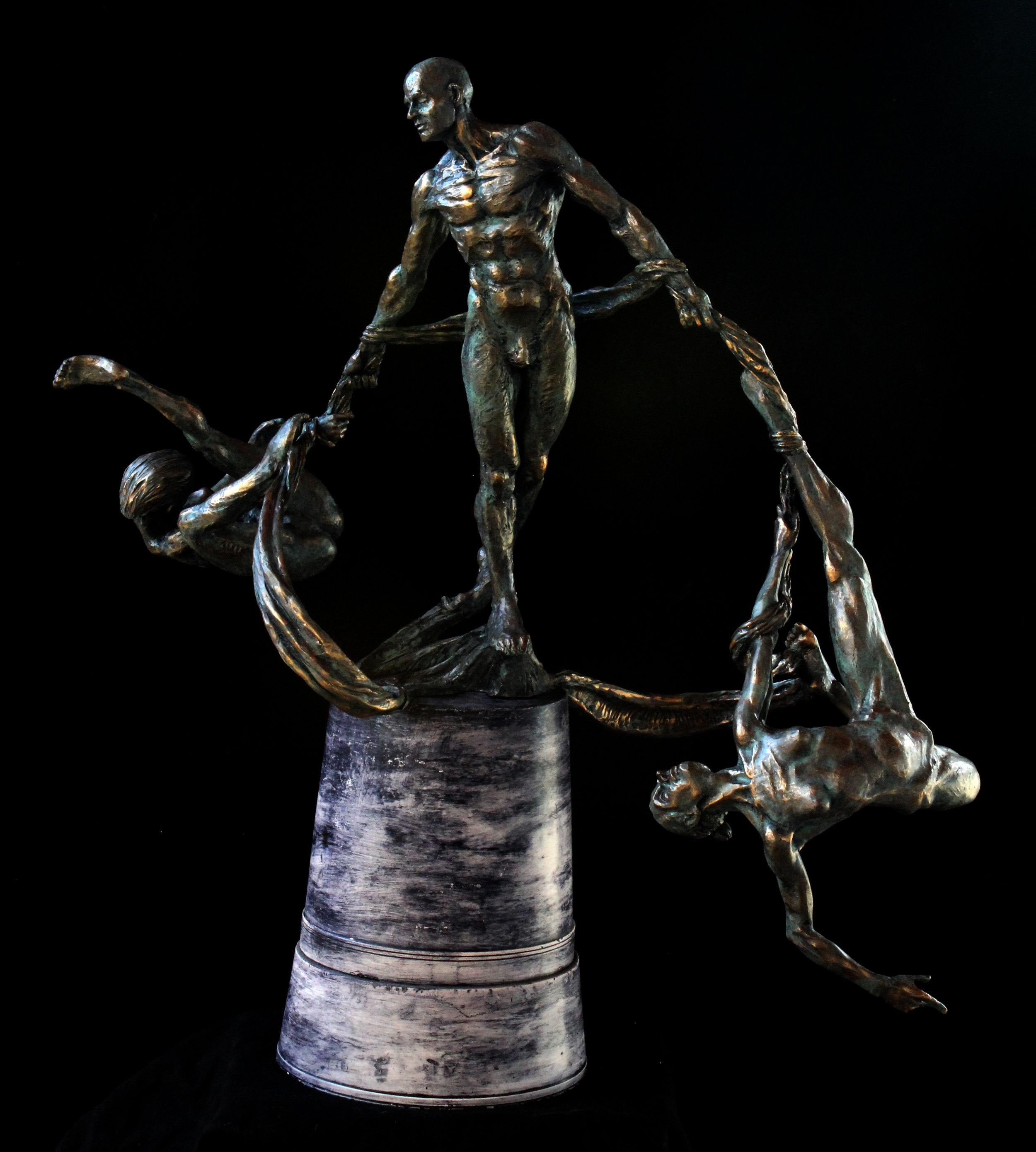 twistTrio ,Bronze (cold cast bronze shown), 2017