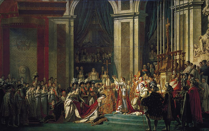 Jacques-Louis David,  Coronation of Emperor Napoleon I and Coronation of the Empress Josephine in the Notre-Dame de Paris, December 2, 1804
