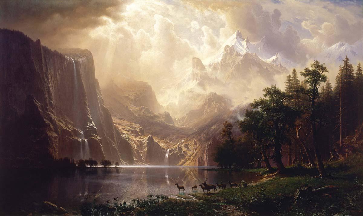 Albert Bierstadt,  Among the Sierra Nevada, California , 1868 | Smithsonian American Art Museum