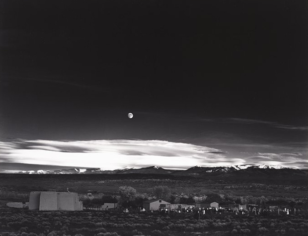 Moonrise over Hernandez, New Mexico  (1941)   On View