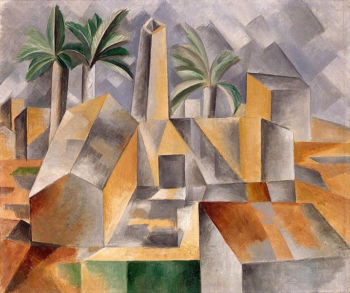 Pablo Picasso, L'Usine, Horta de Ebro (Brick Factory at Tortosa), 1909  State  Hermitage Museum , Saint Petersburg