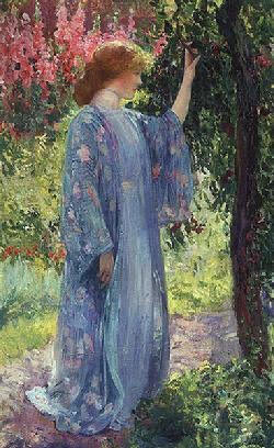 Guy Rose, The Blue Kimono, Private Collection
