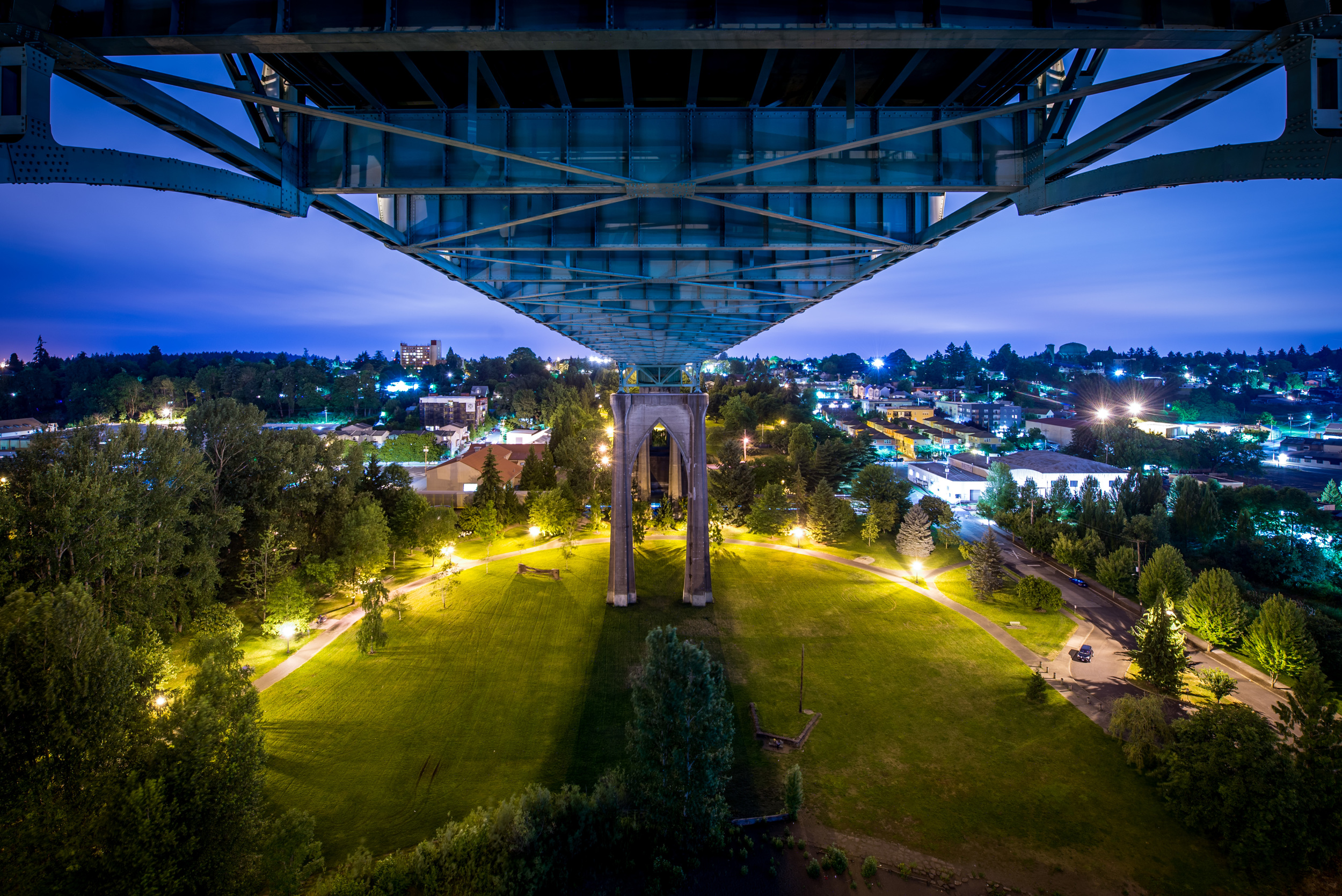 The view above Cathedral Park