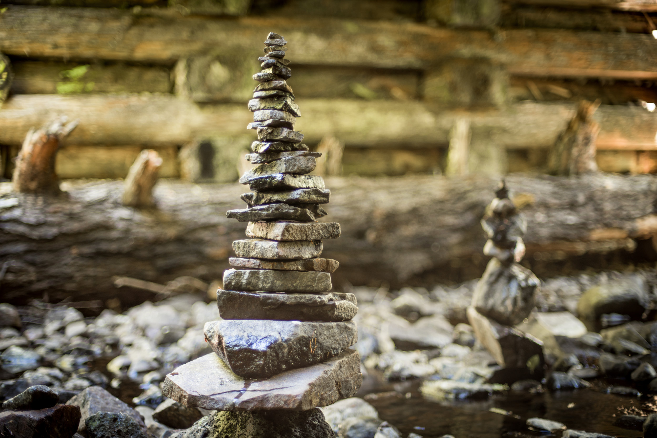Blake and I made this freaking sweet Cairn on the river. I hope it stays up for a while.