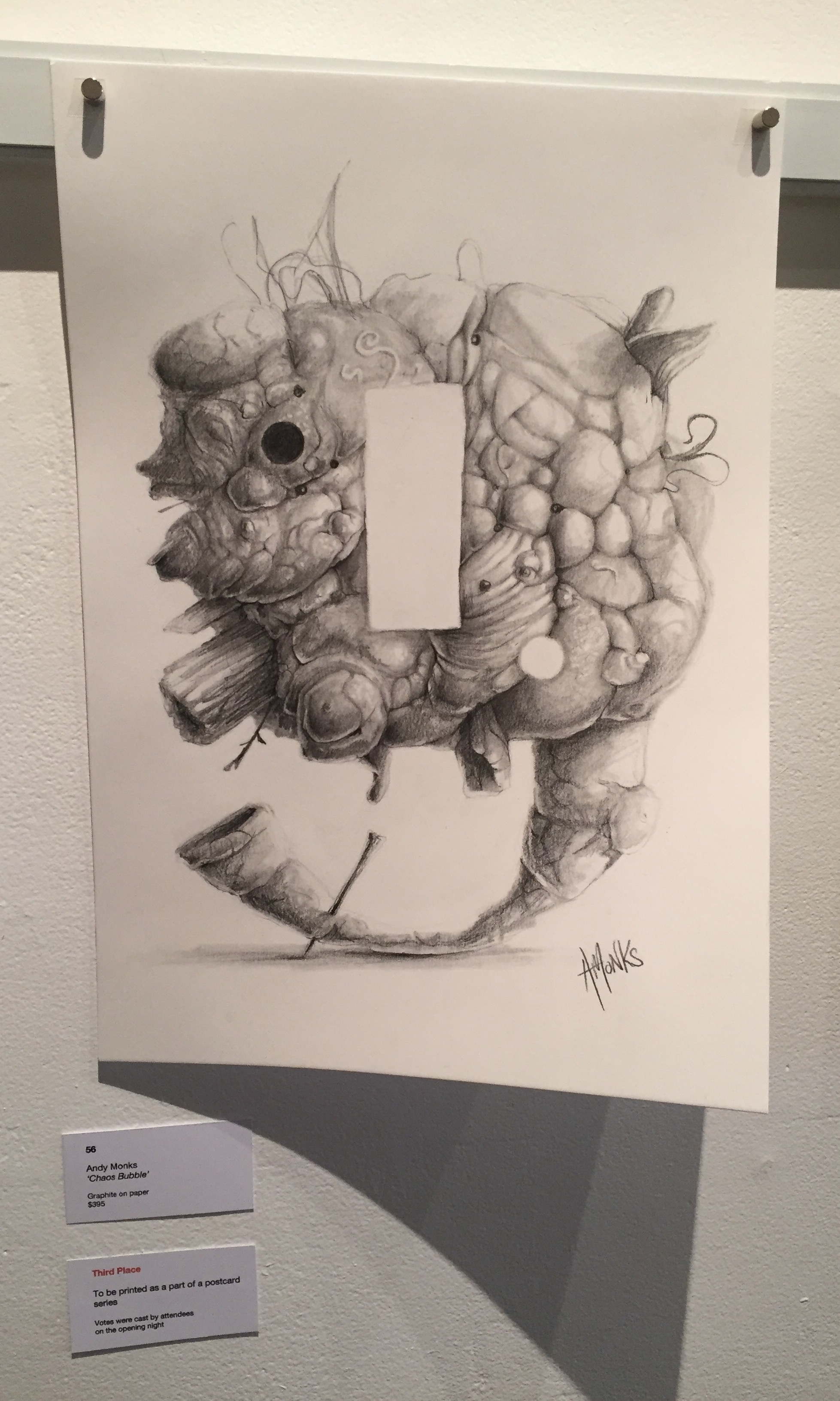 """THIRD PRIZE: Andy Monks   """"Chaos Bubble"""""""