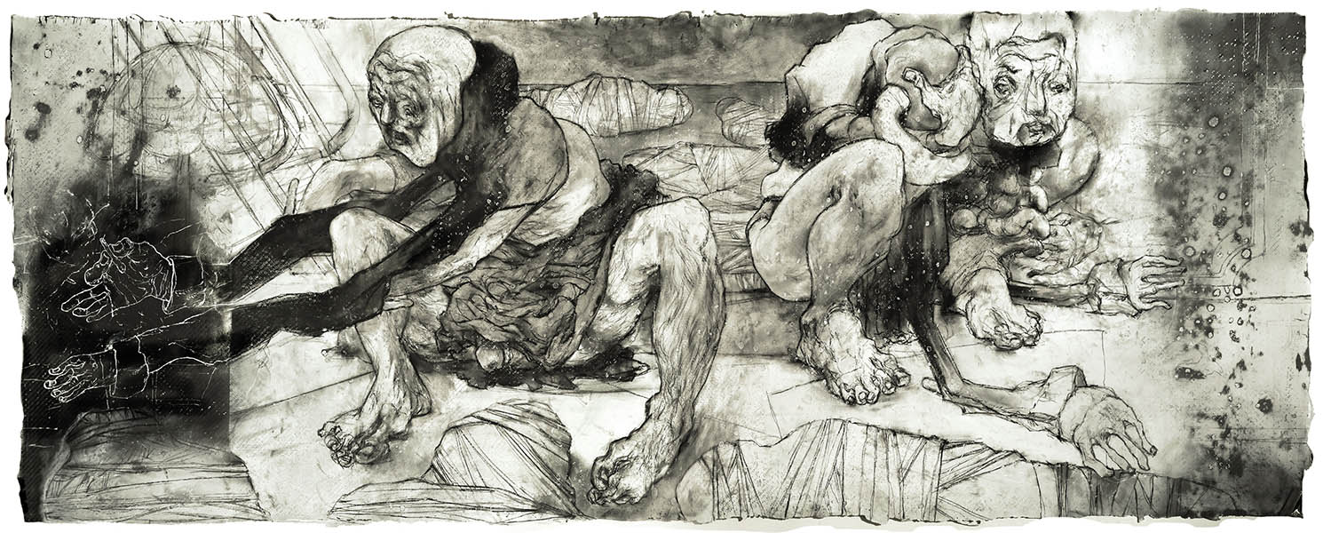 """Major Prize Winner, William Platz,  """"Puppets with Charcoal"""""""