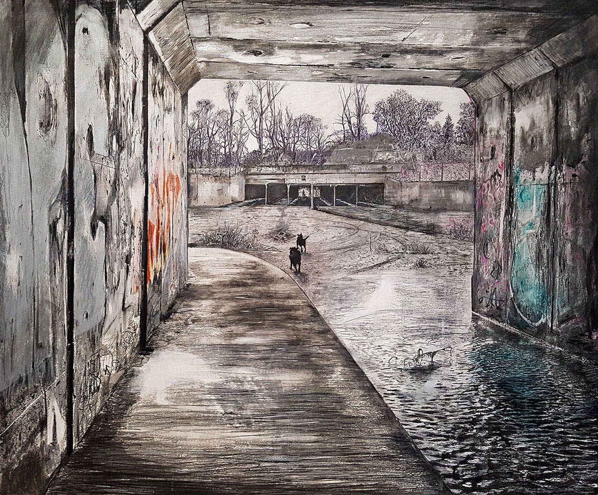 Winner of the 2018 Marie Ellis OAM Prize for Drawing, Dennis McCart,  Someplace Else Unknown,  2018