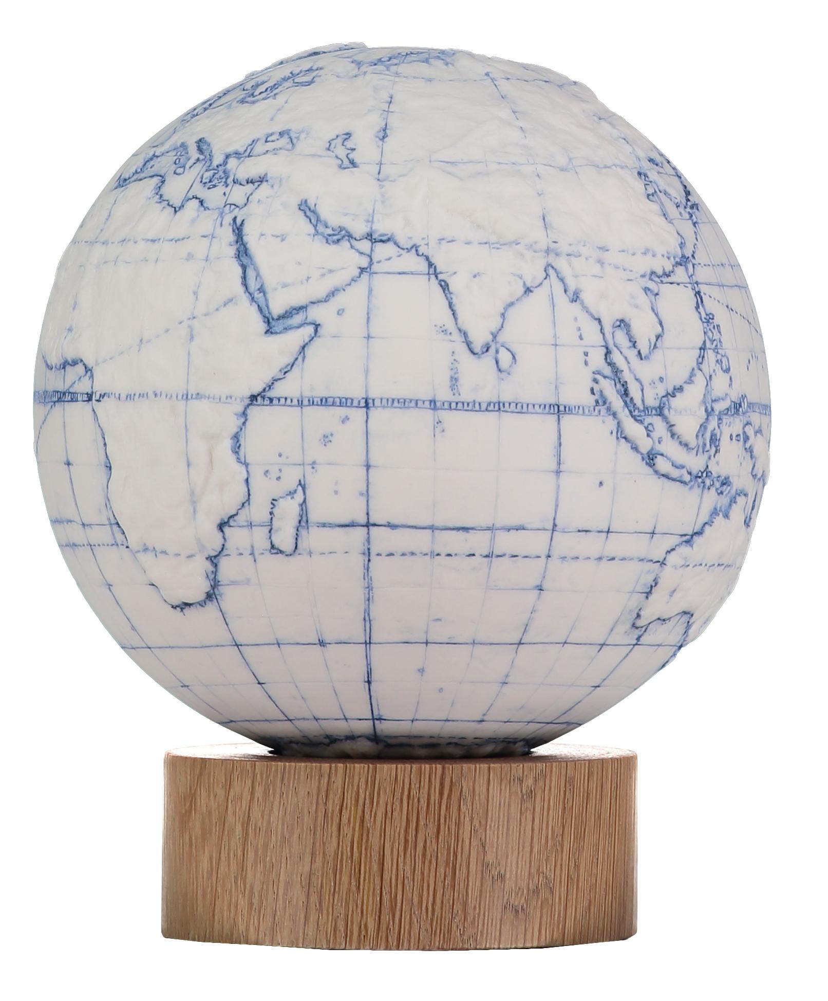 Desk Globe Blue Meridians