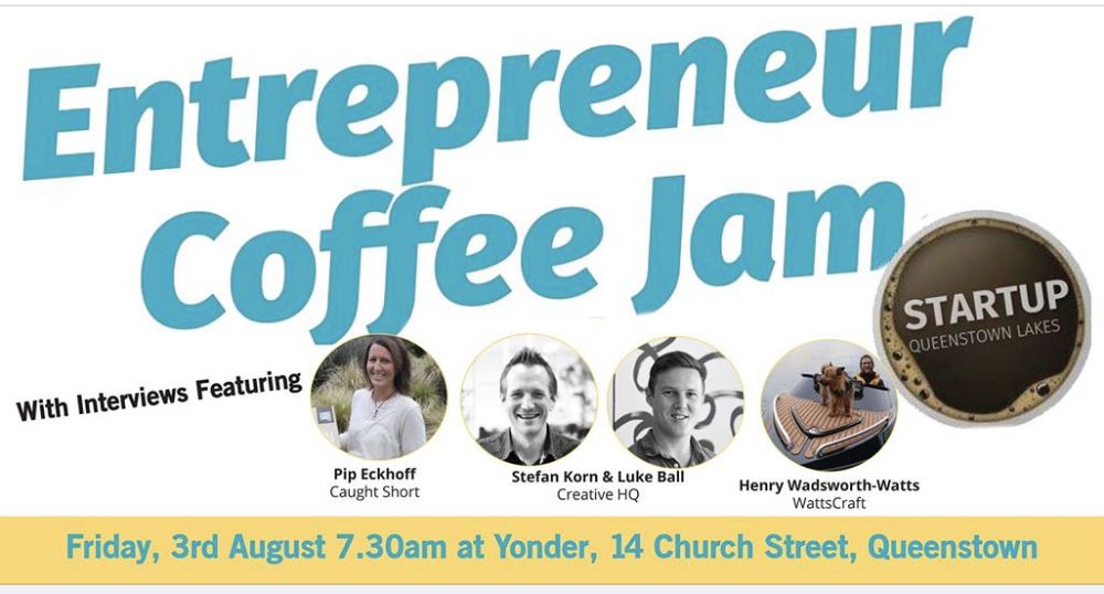 WattsCraft talks about our journey at Start up Queenstown's Coffee jam event