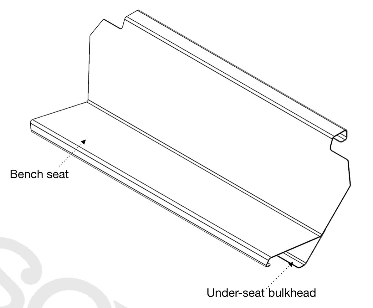 WattsCraft bench seat