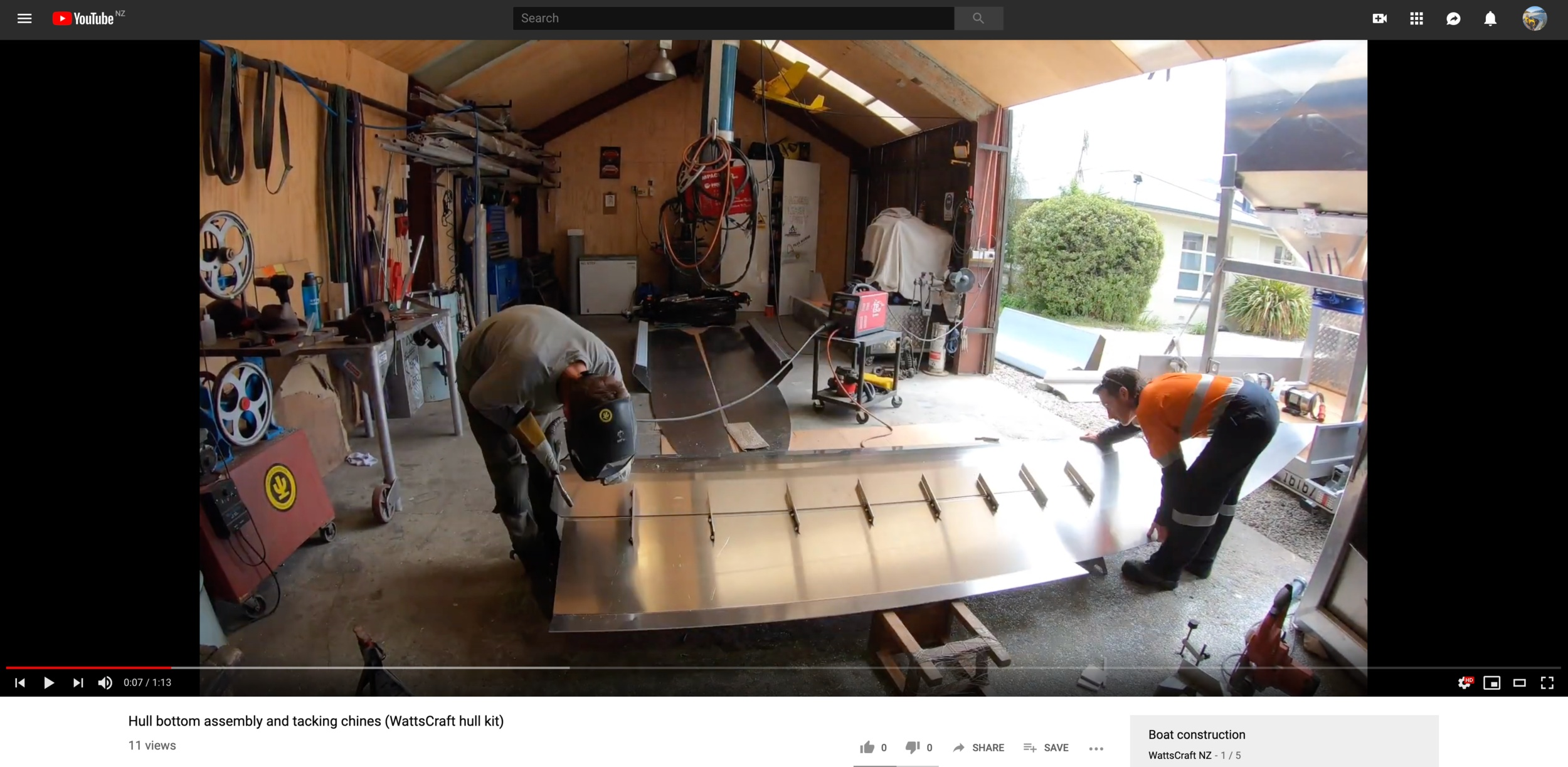 Check out example videos of key steps of building a hull here