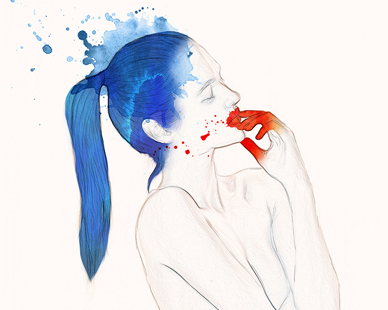 Illustration by Helen Savva -Giclée Fine-Art Print