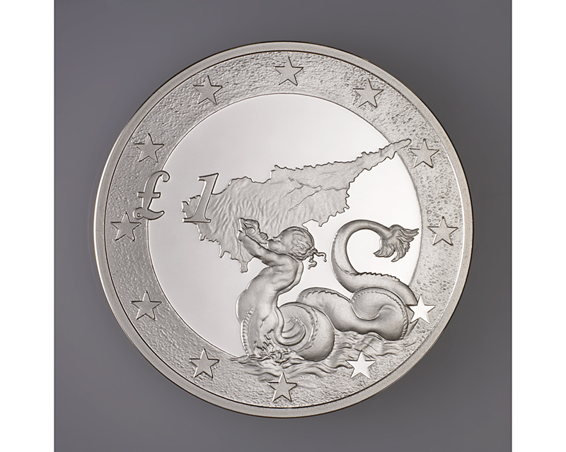 Triton - Central Bank of Cyprus - Coin designed by Clara Zacharaki Georghiou