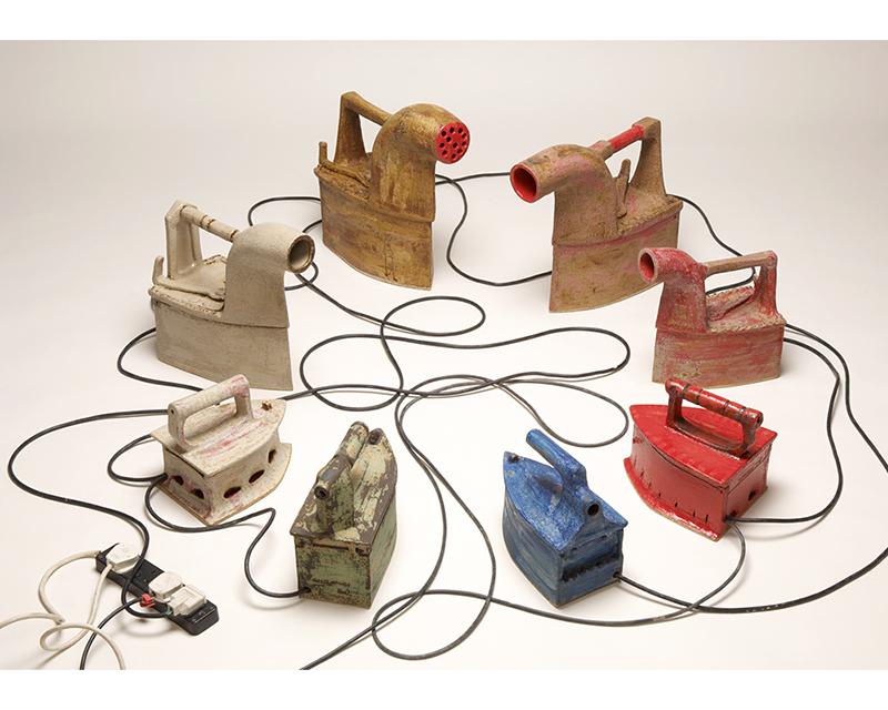 """On the plug"", ceramics by Constantinos Constantinides"