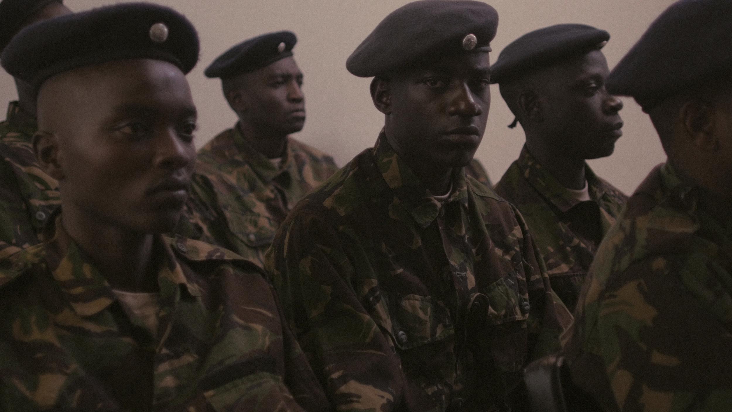 Stevo (Paul Ogola) and fellow officers.