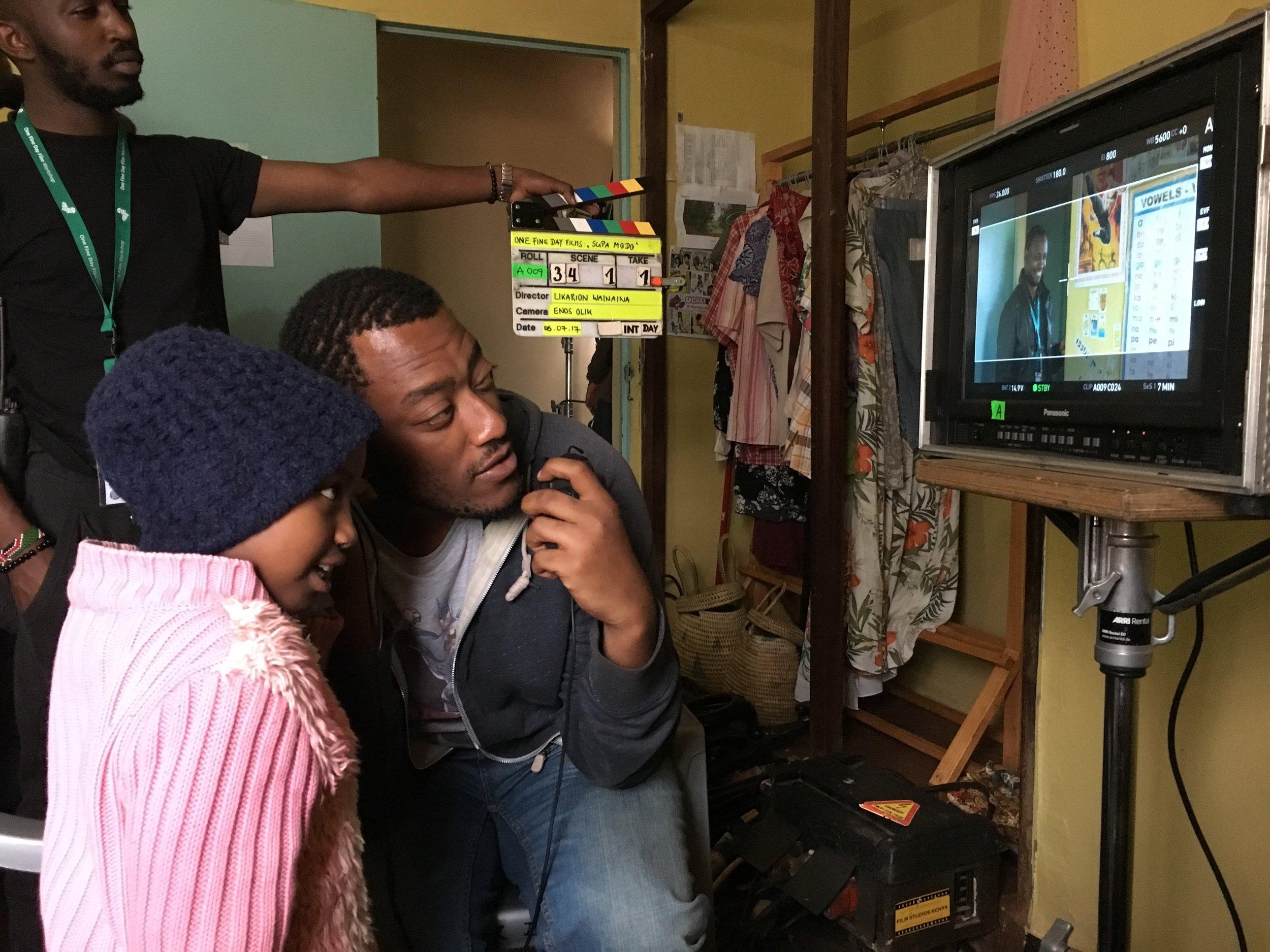 Director Likarion Wainaina and Stycy Waweru.