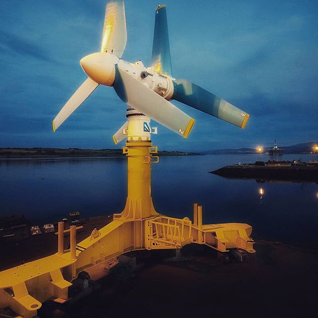 World's first large-scale tidal energy farm launches in Scotland  The Edinburgh-based Atlantis Resources hopes the project will eventually have 269 turbines and provide enough electricity to power 175,000 homes. Photograph: Mike Brookes Roper/PA  #wave  #renewableenergy #greenenergy  #sustainability  #engineering  #energy