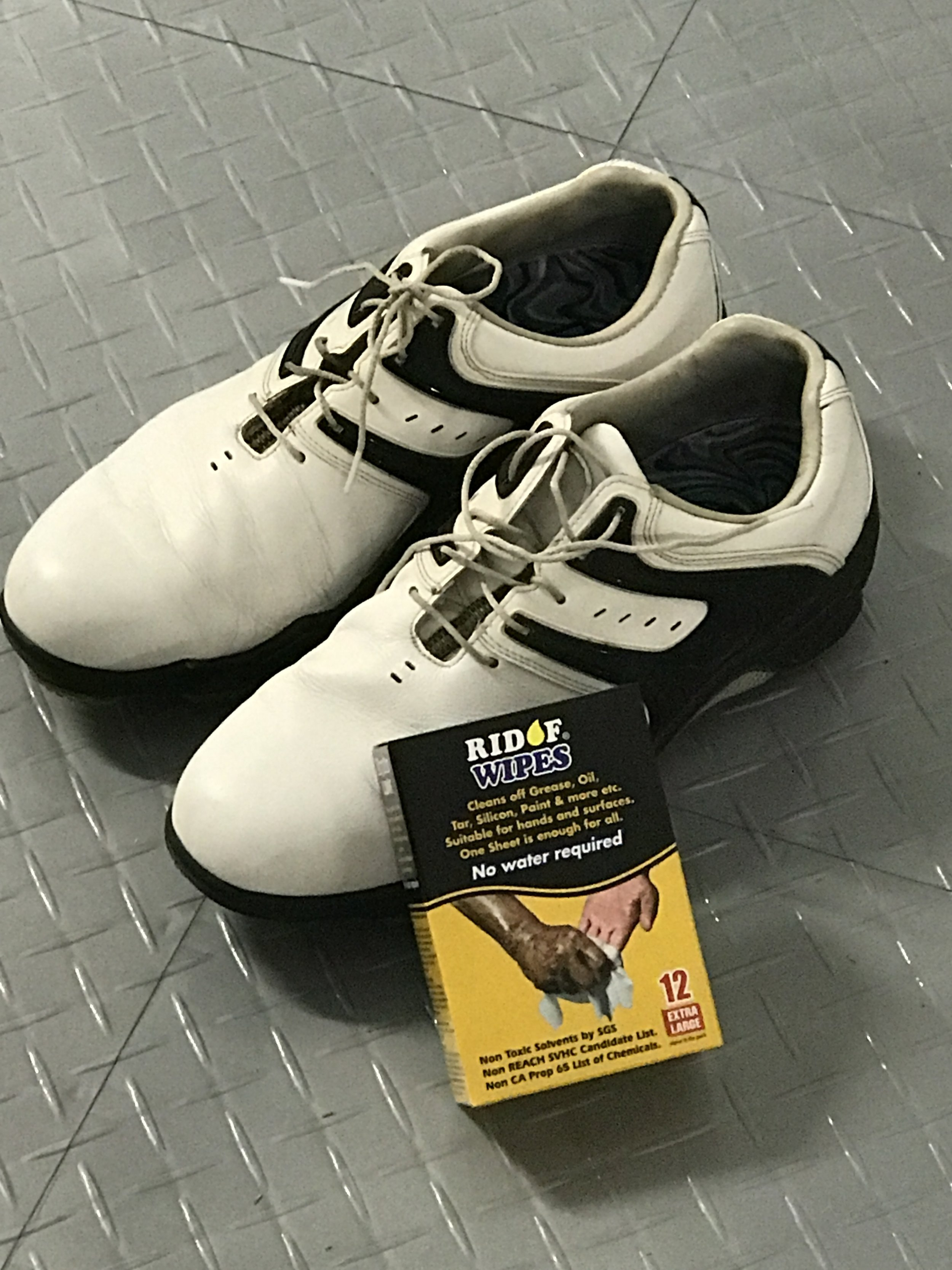 """ RIDOF""Even On Golf Shoes"