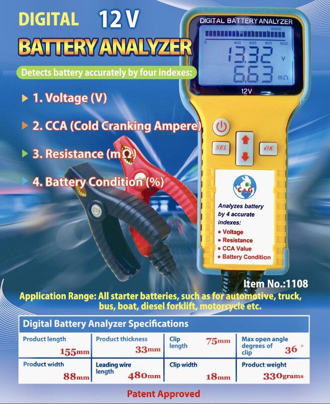 Digital Battery Analyzer 12 Volt