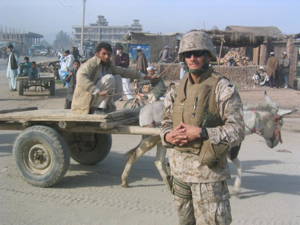 Makani during his tour in Afghanistan as a 1st Lt. in 2004.