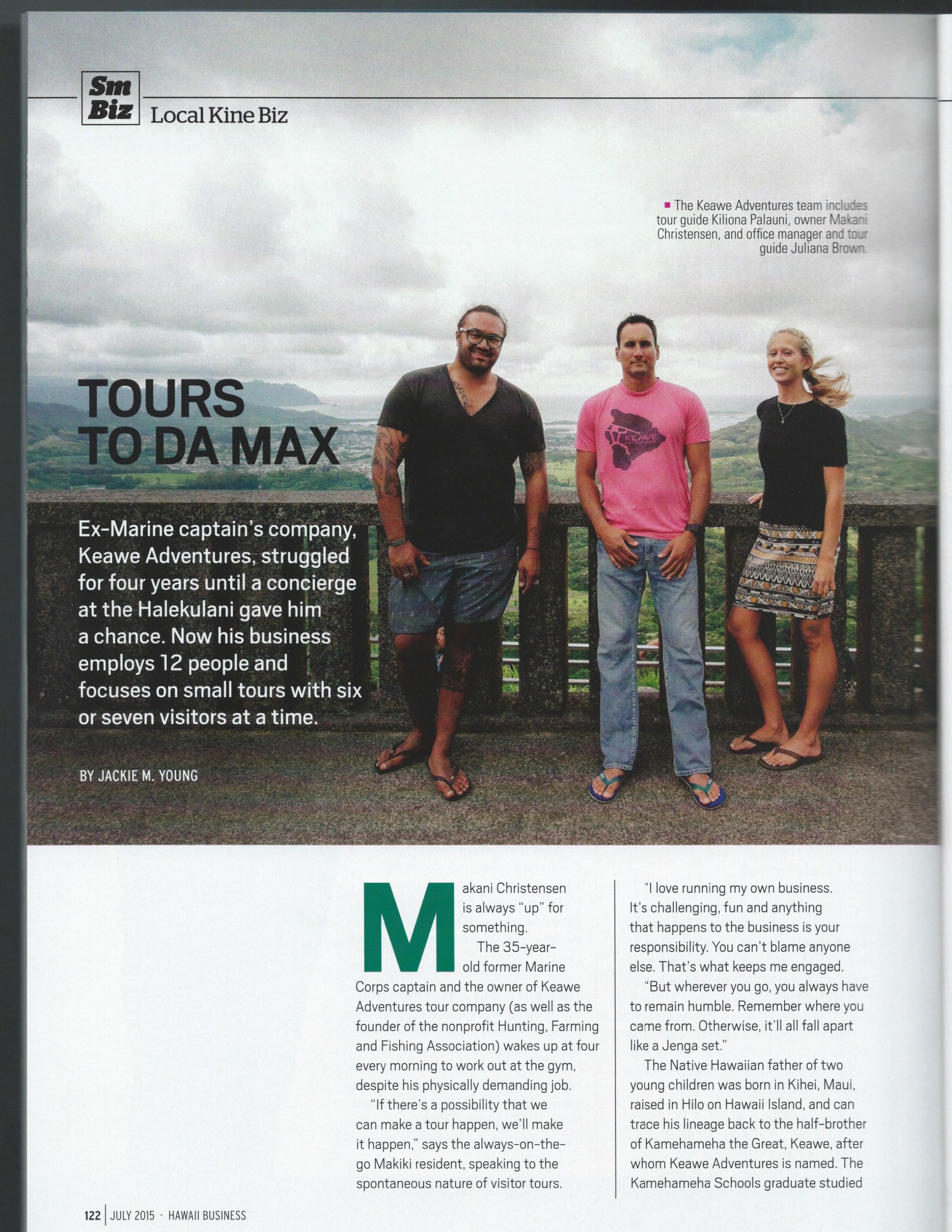 Hawaii Business Keawe Adventures pg1.jpeg