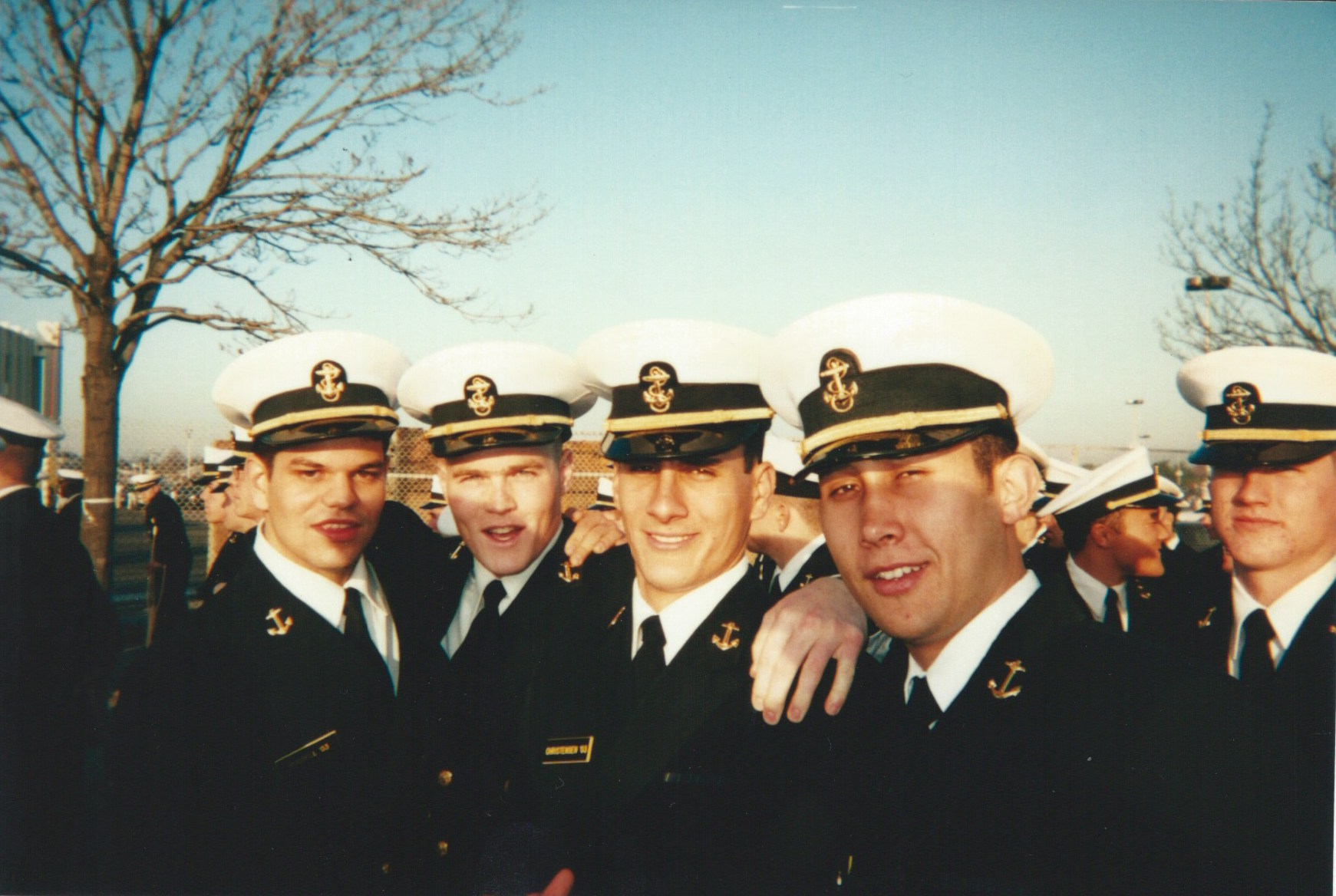 Makani with his company mates at the Naval Academy, Maryland.