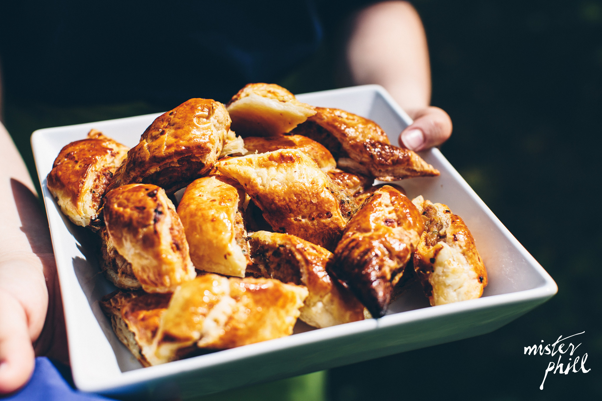 Classic spicy sausage rolls