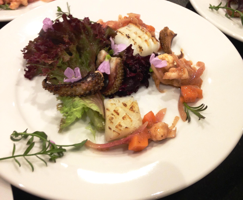 Cuttlefish, lardo, piccalilli ferment