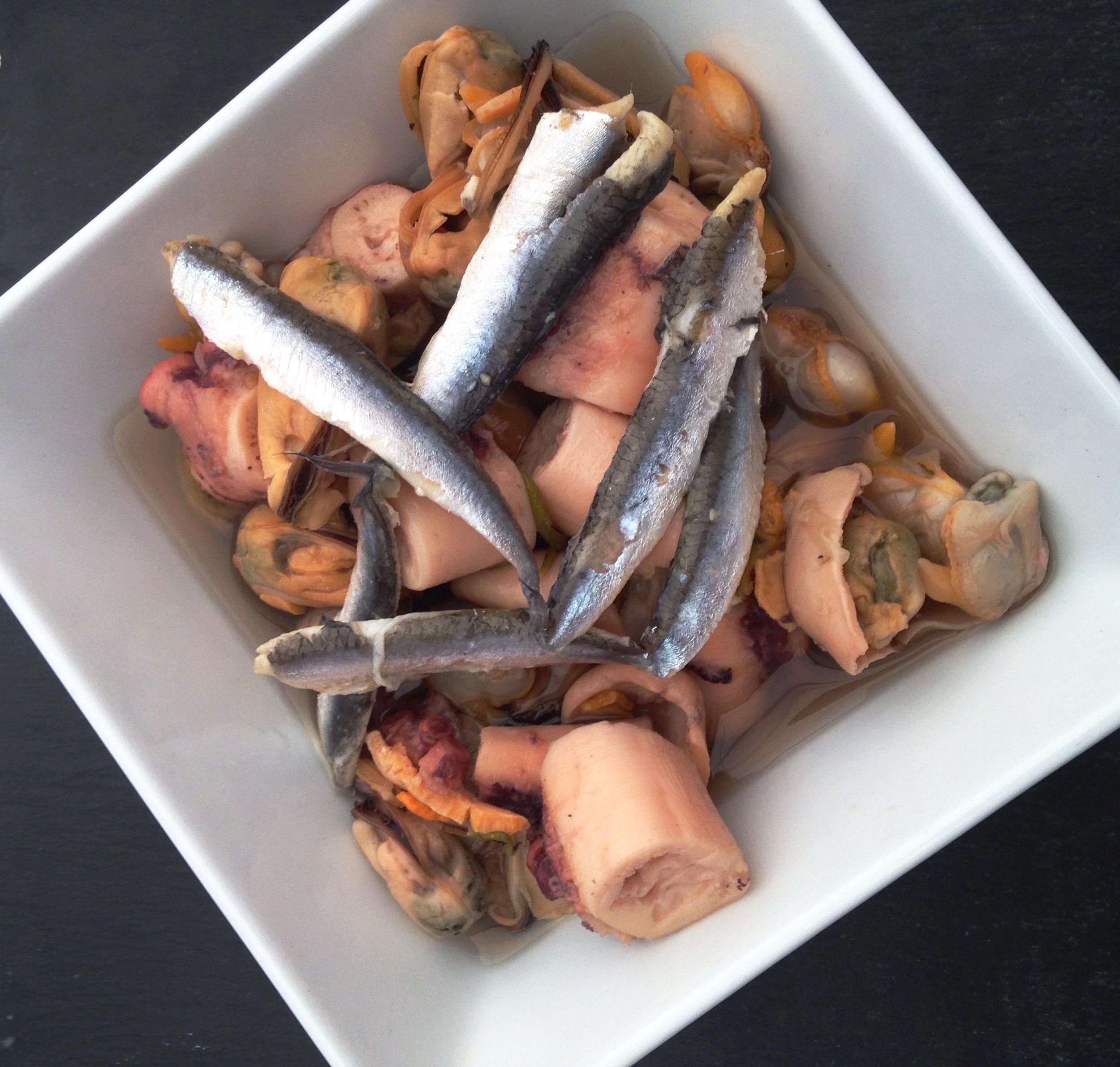 Doombar pickled seafood salad