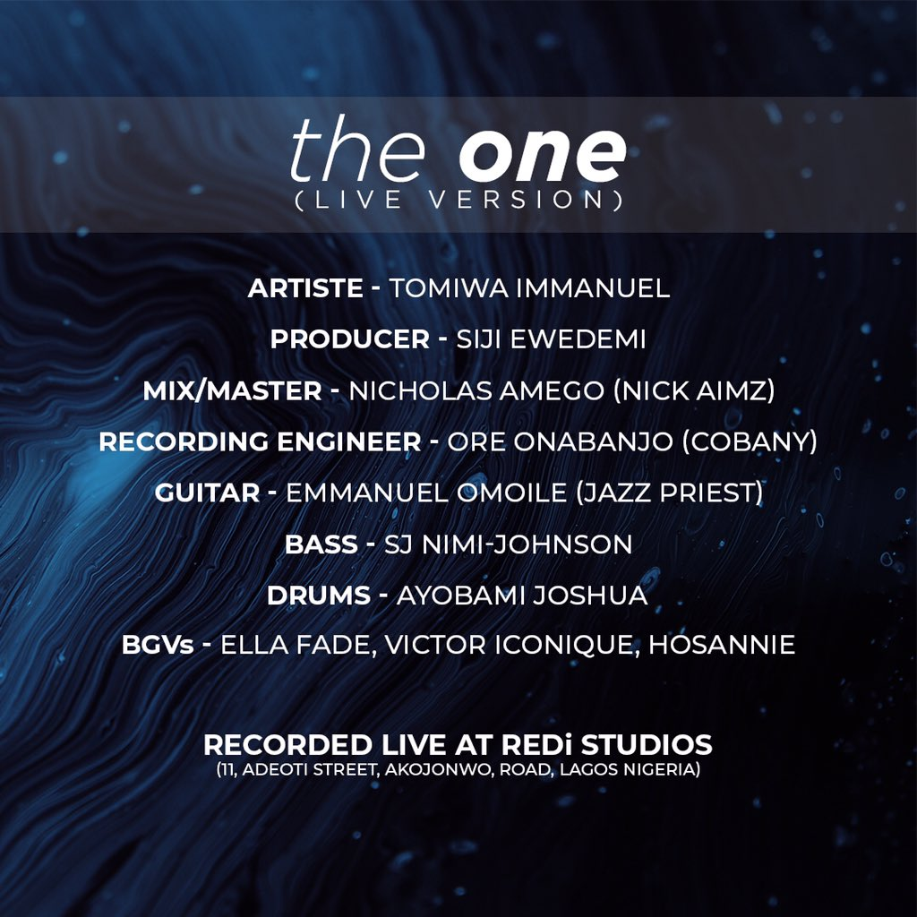 Tomiwa Immanuel - The One (LIVE) [Track Credits] + Music Unites Africa.jpg