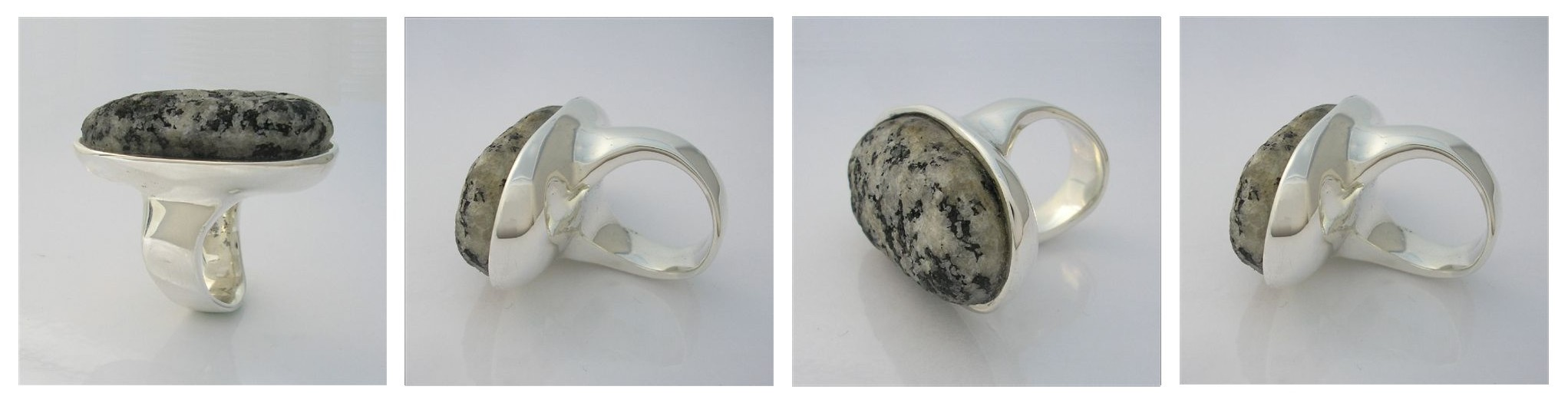 I made this Ring for my wife .... I found a rock at her favorite beach , Grannys Pool in Augusta Western Australia and created this ring for her