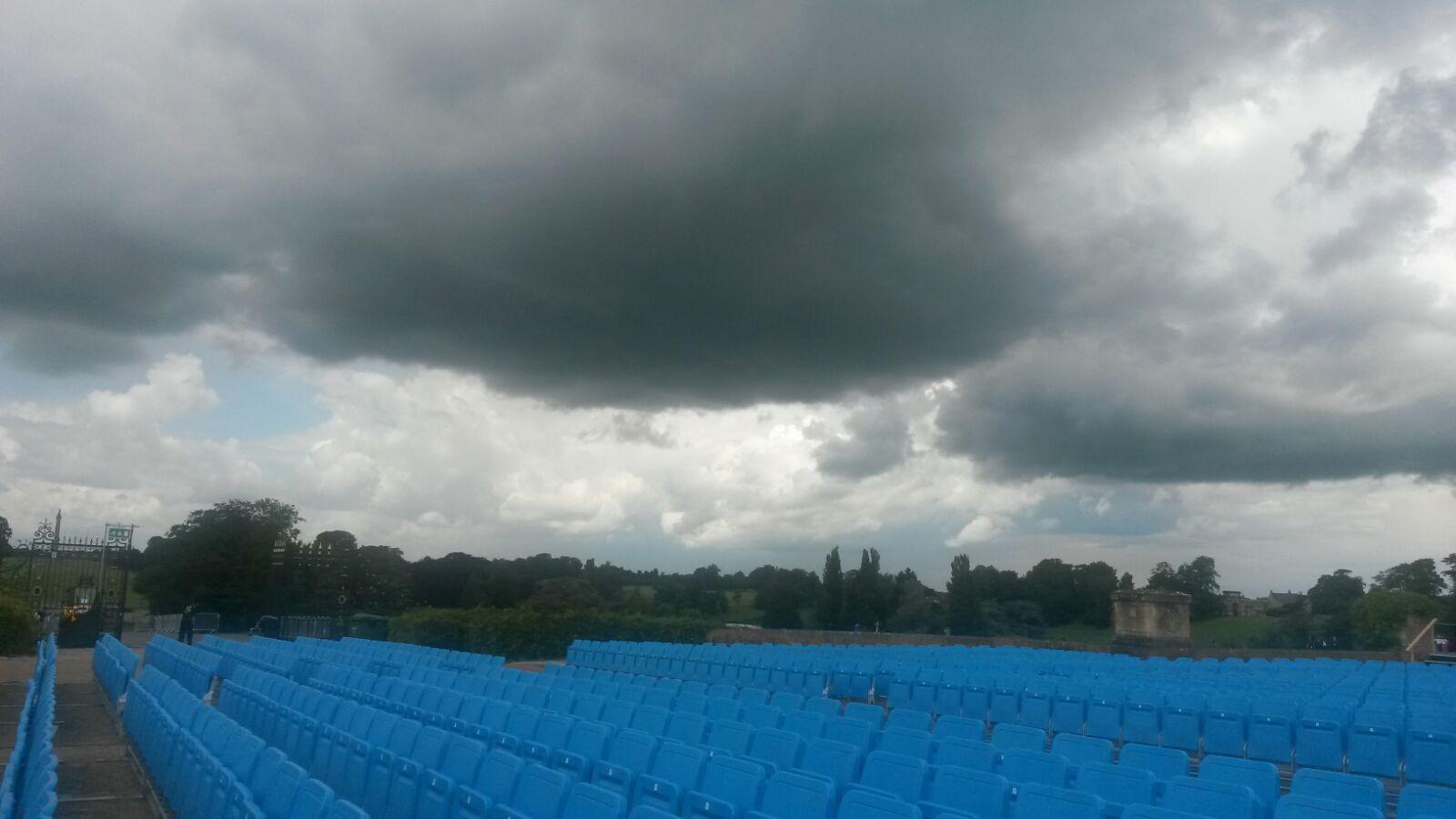 Ominous looking skies during rehearsal
