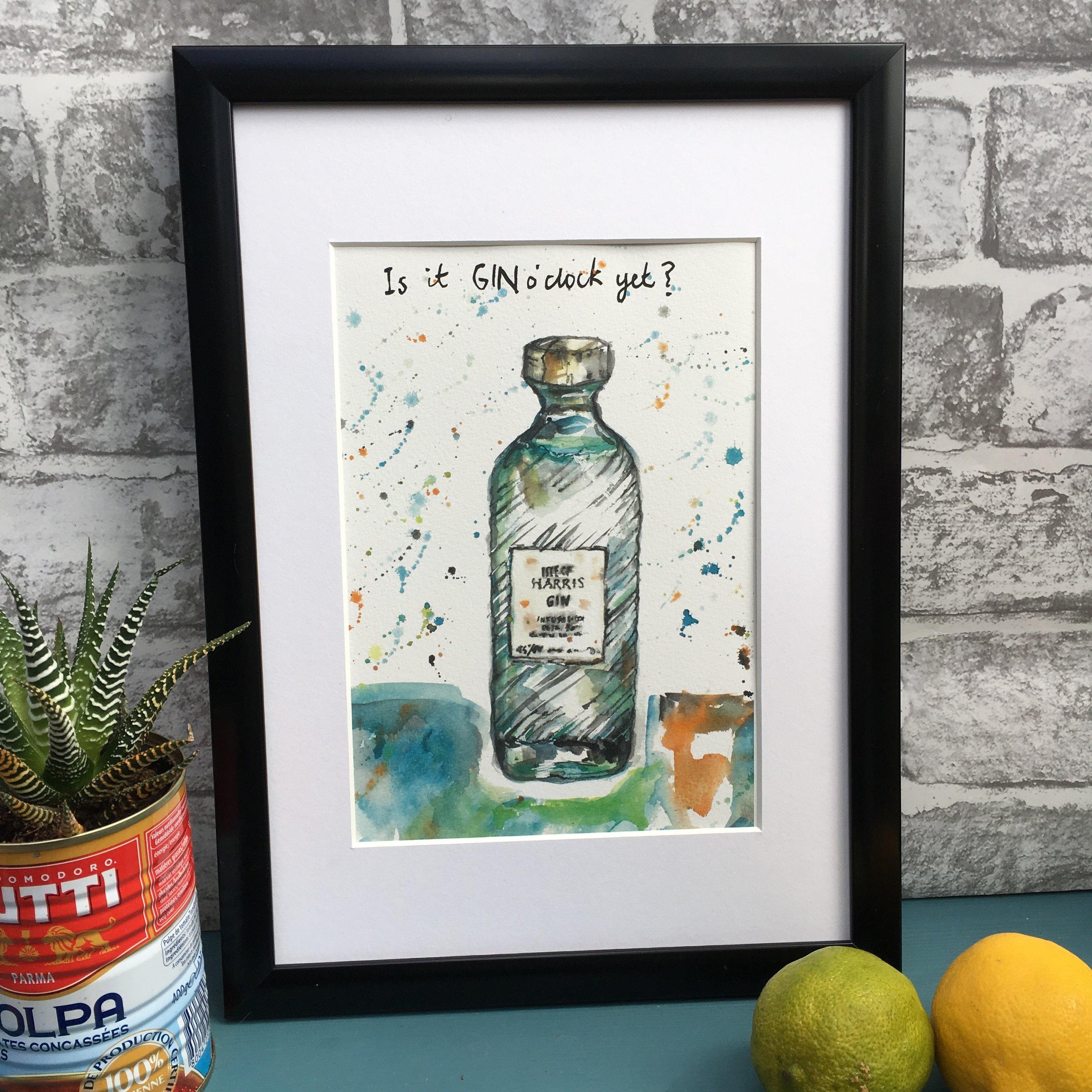 Isle of Harris Gin Print