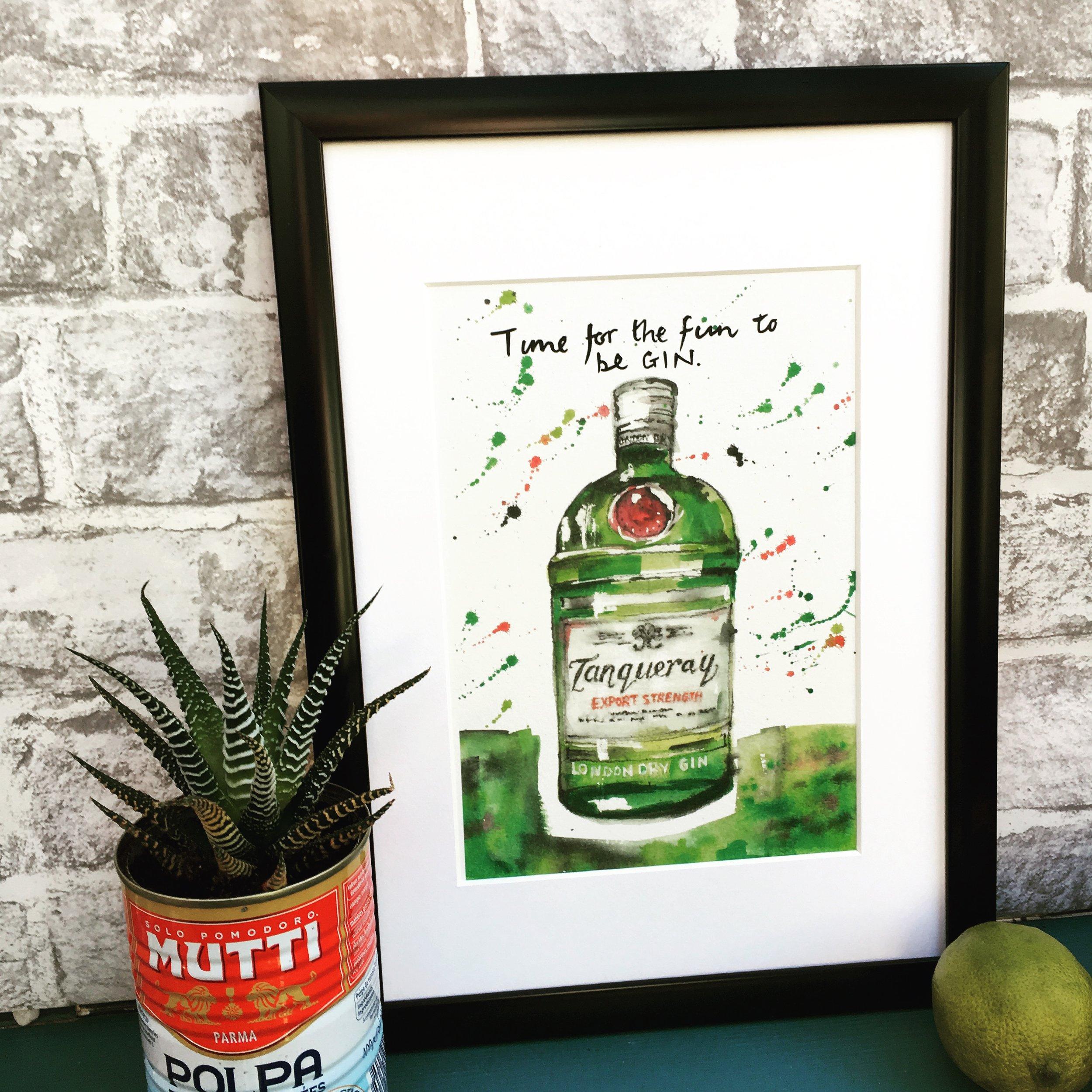 Tanqueray Gin Print