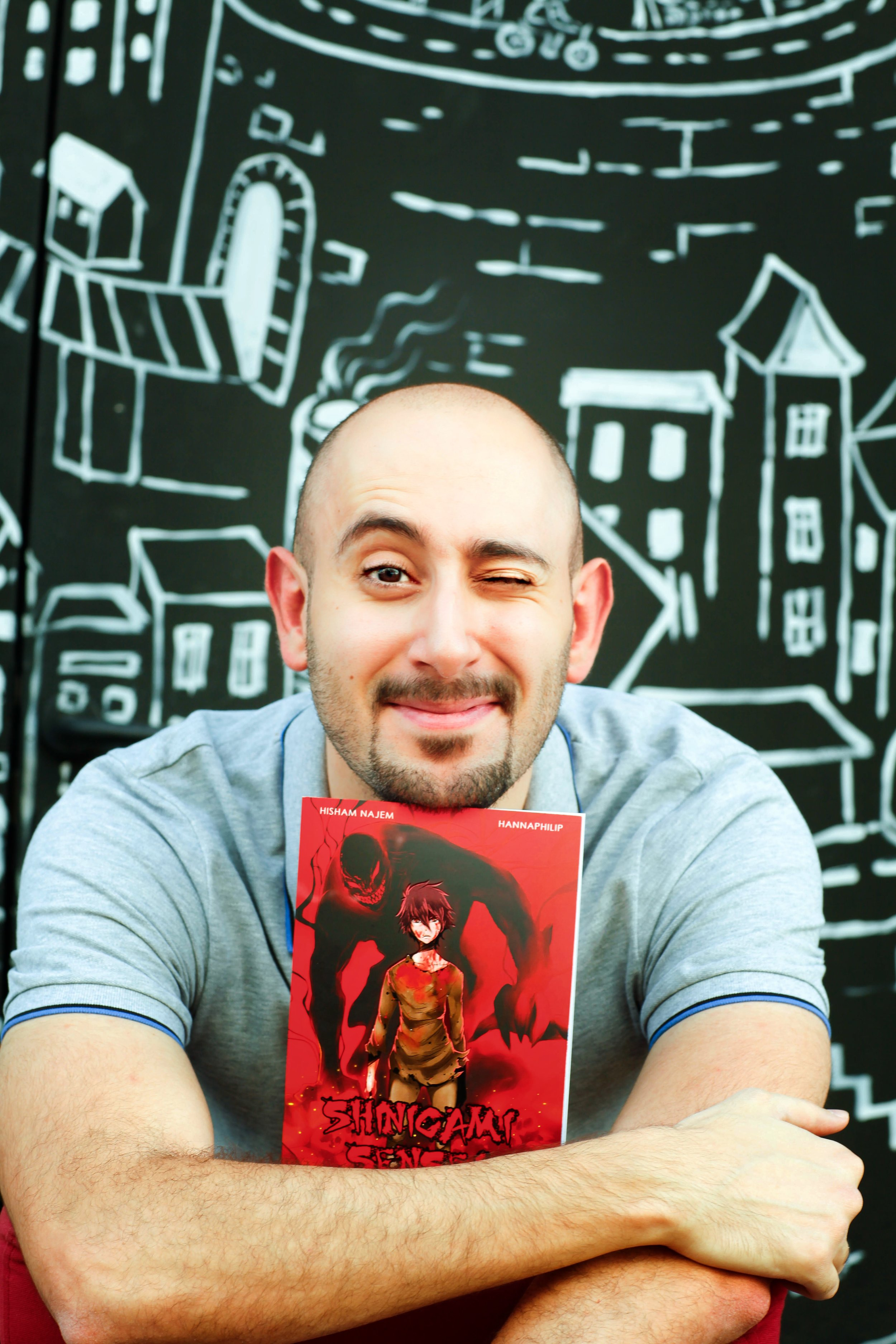 Manga writer, Hisham Najem - photo by Athoob Al-Shuaibi