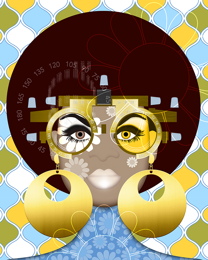 Today, Cheryl Wore Her Future Glasses , 2018 Archival pigment on paper 22 x 17 in.  Inquiries