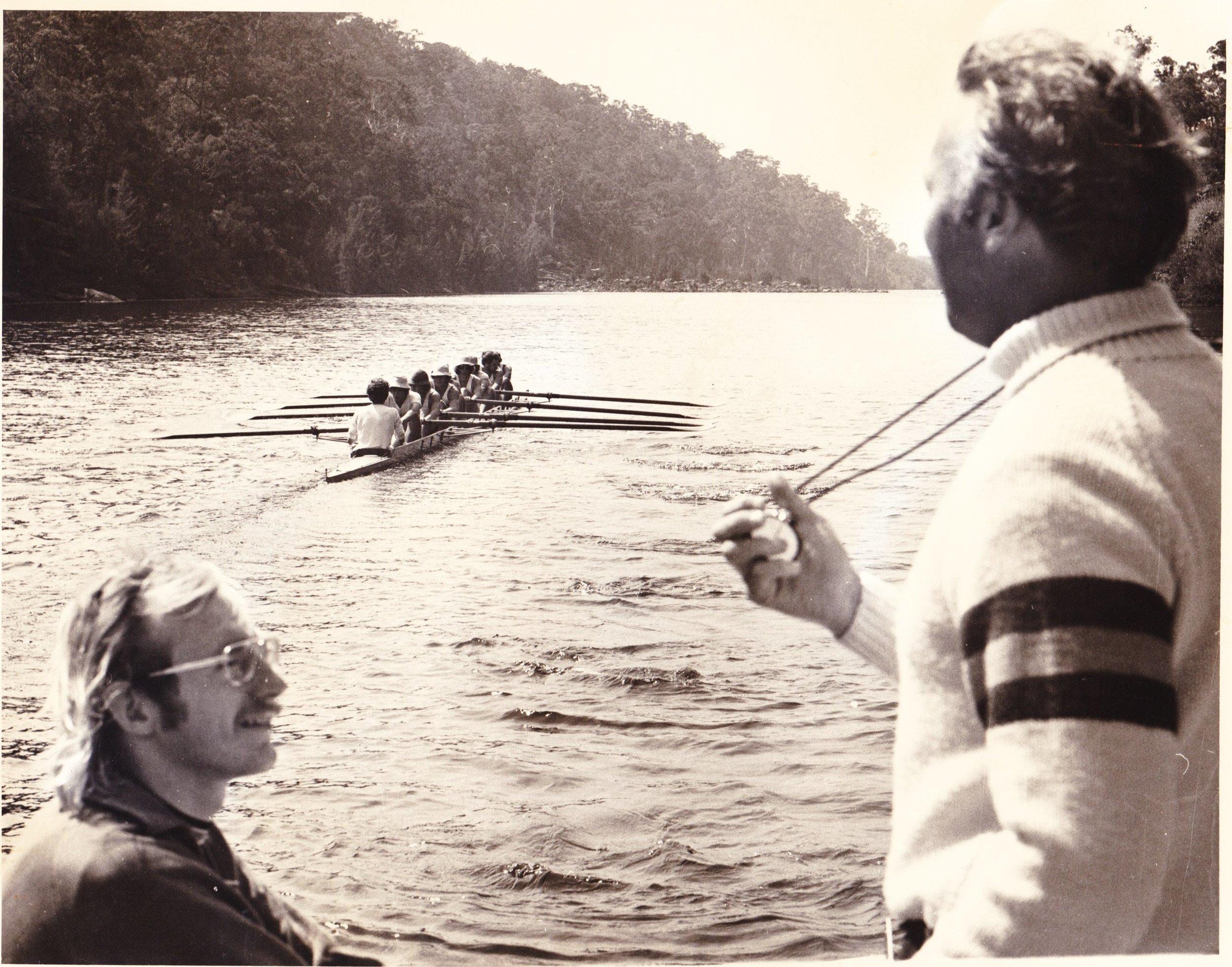 Maurie Grace Coaches SUBC Eight Nepean Gorge circa 1972-3