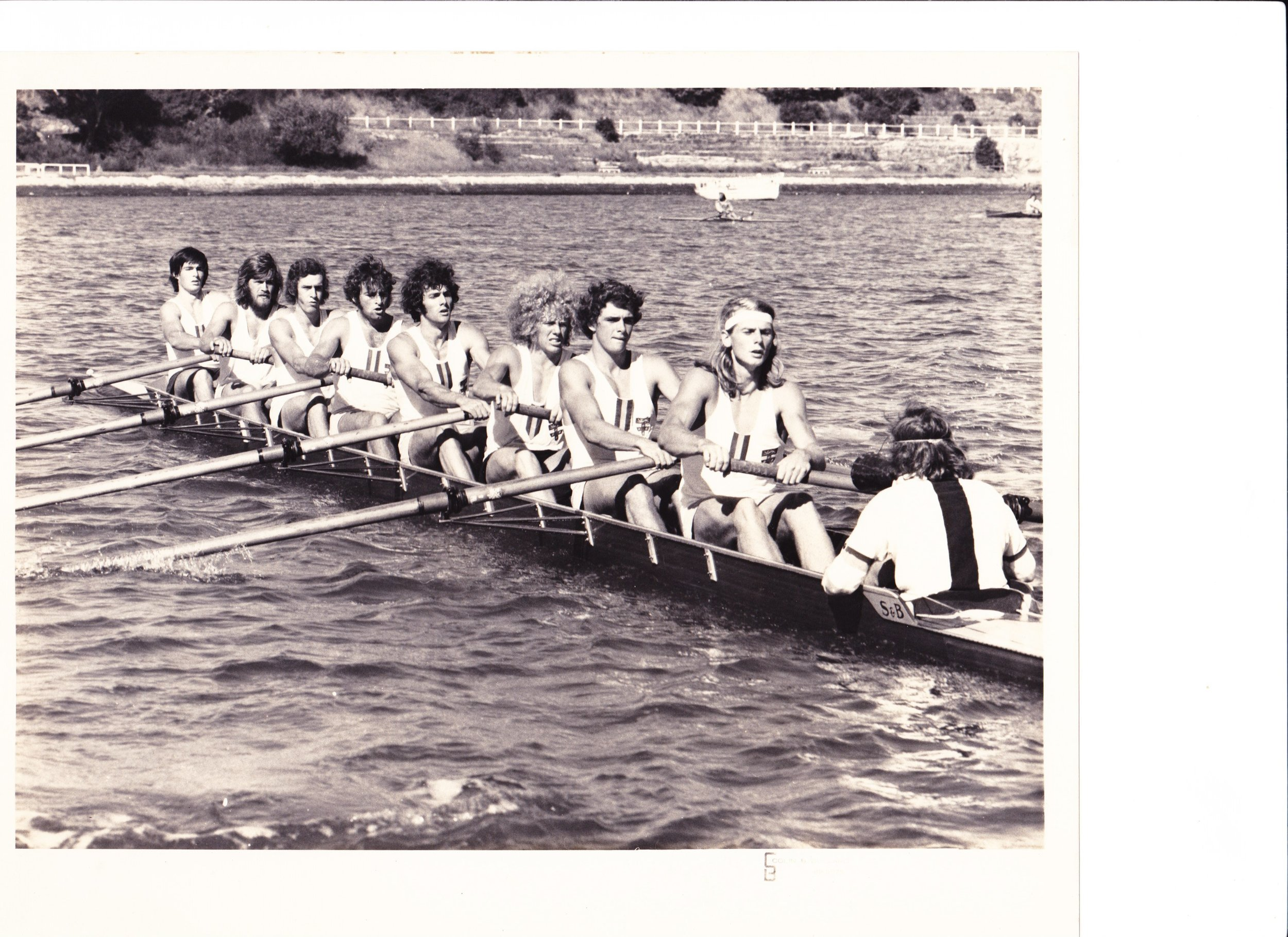 SUBC Eight circa 1973 Shinners Newnham O Loughlin Stiel Welch Plater Roberts Curtin - Donnelly cox