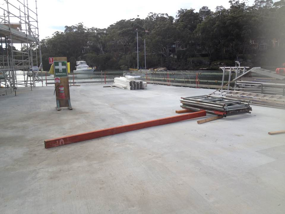 apron area to pontoon