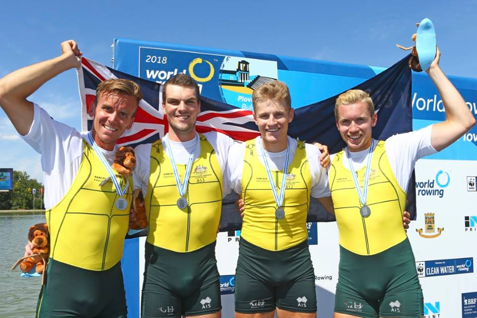 Alex Purnell ( 2nd from left) and Campbell Watts ( 2nd from right - Silver