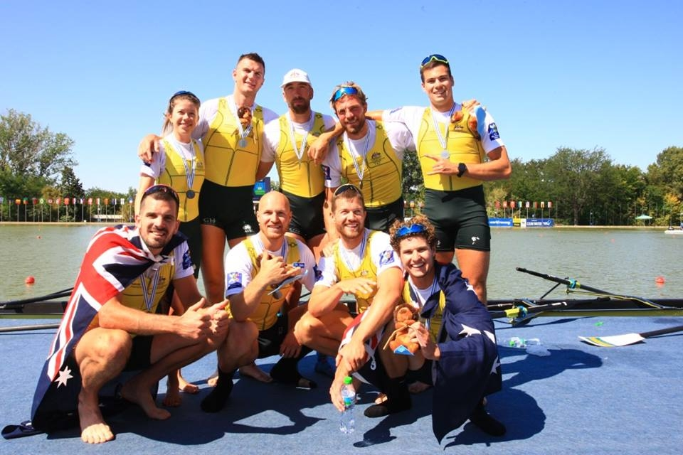Australian Men's Eight - Nick Purnell - front left - Silver Medallists