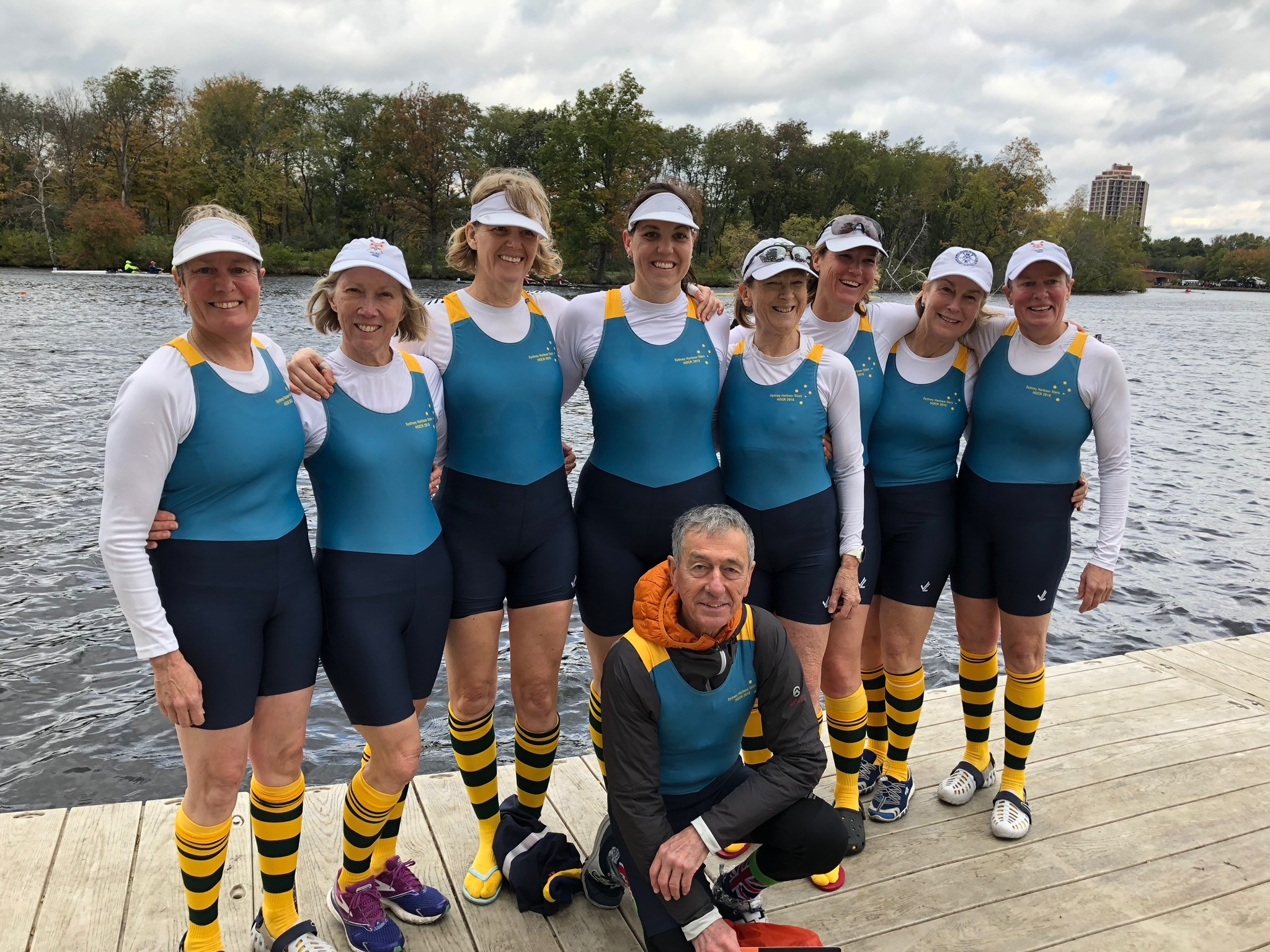 The Sydney Harbour Stars - Women's Masters Eight for Head of the Charles 2018