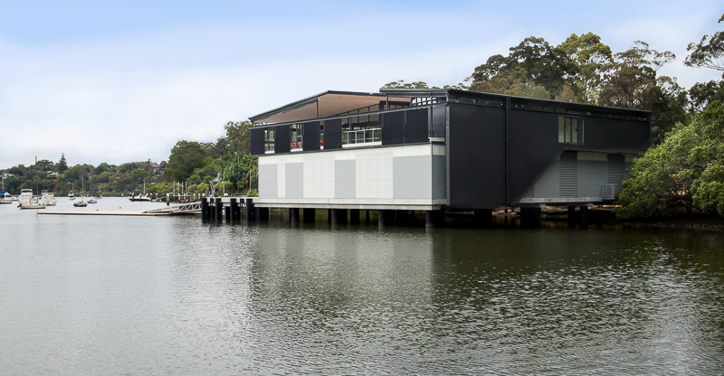 The Thyne Reid Boatshed at Linley Point