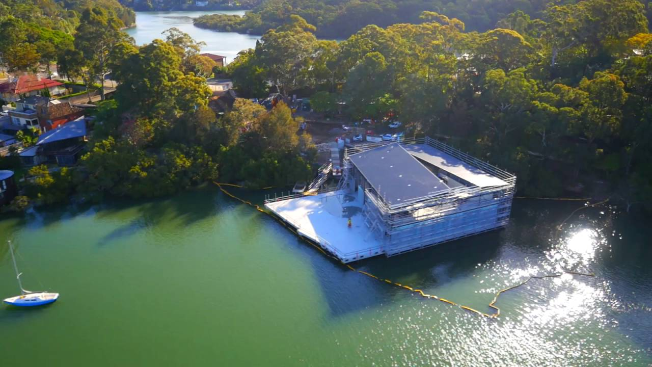 The Thyne Reid Boatshed under construction thanks to the foundation