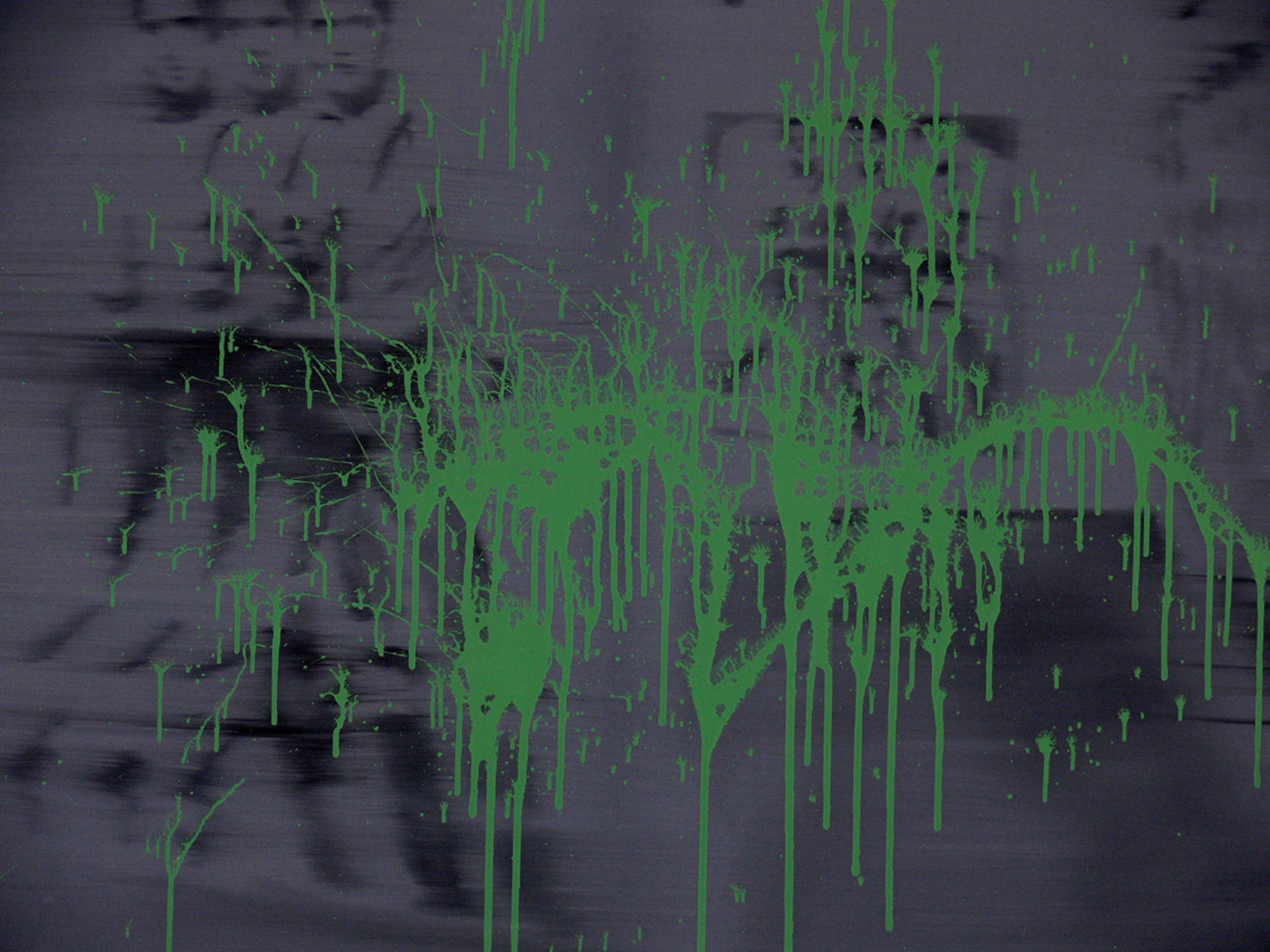 Untitled (Installation and a green stain)