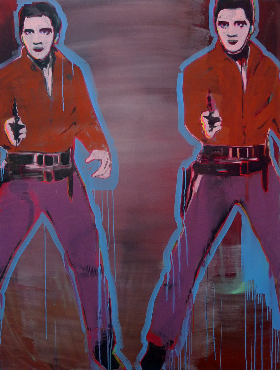 Untitled (Double Elvis, Color)