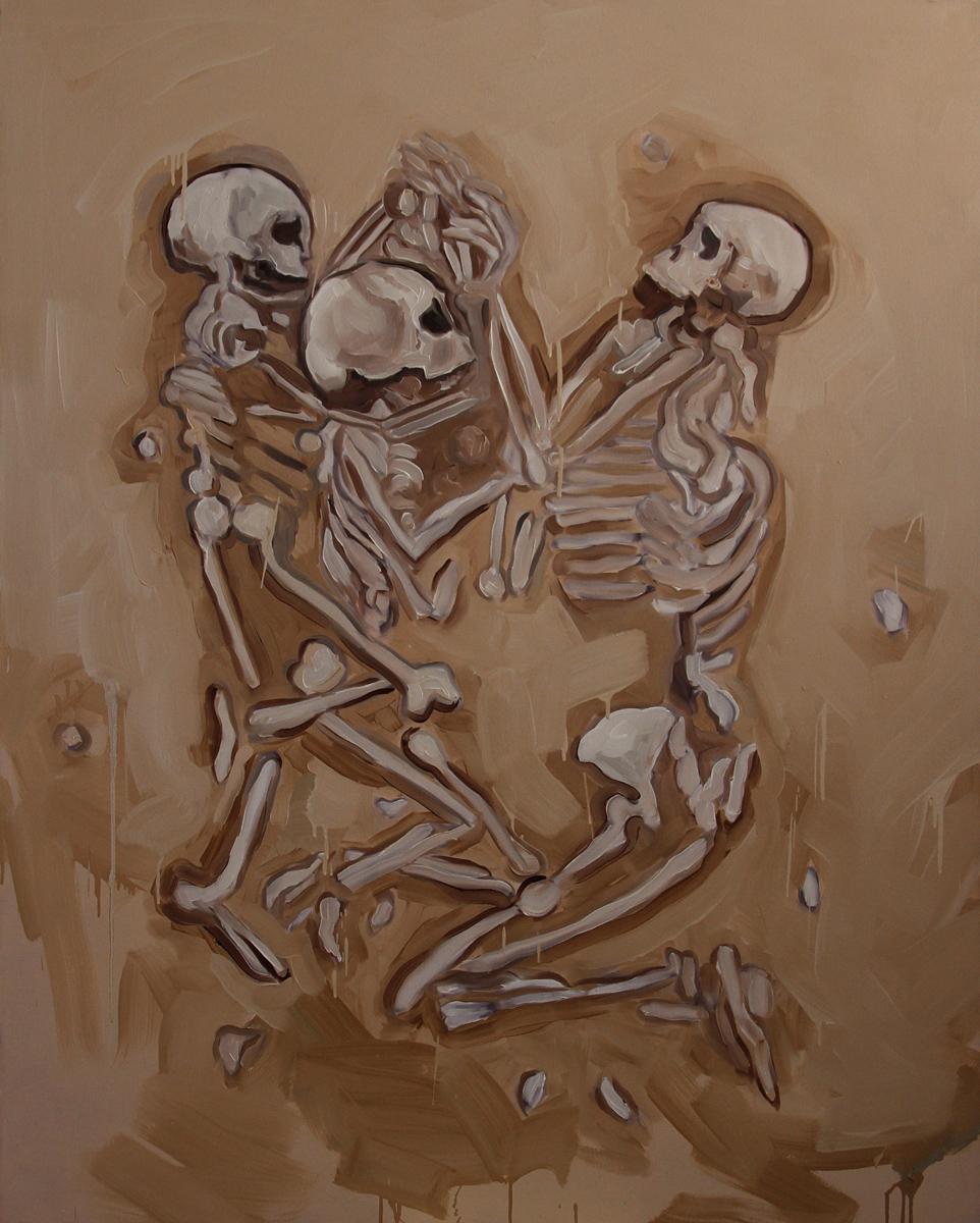 Untitled (Praying Skeletons)